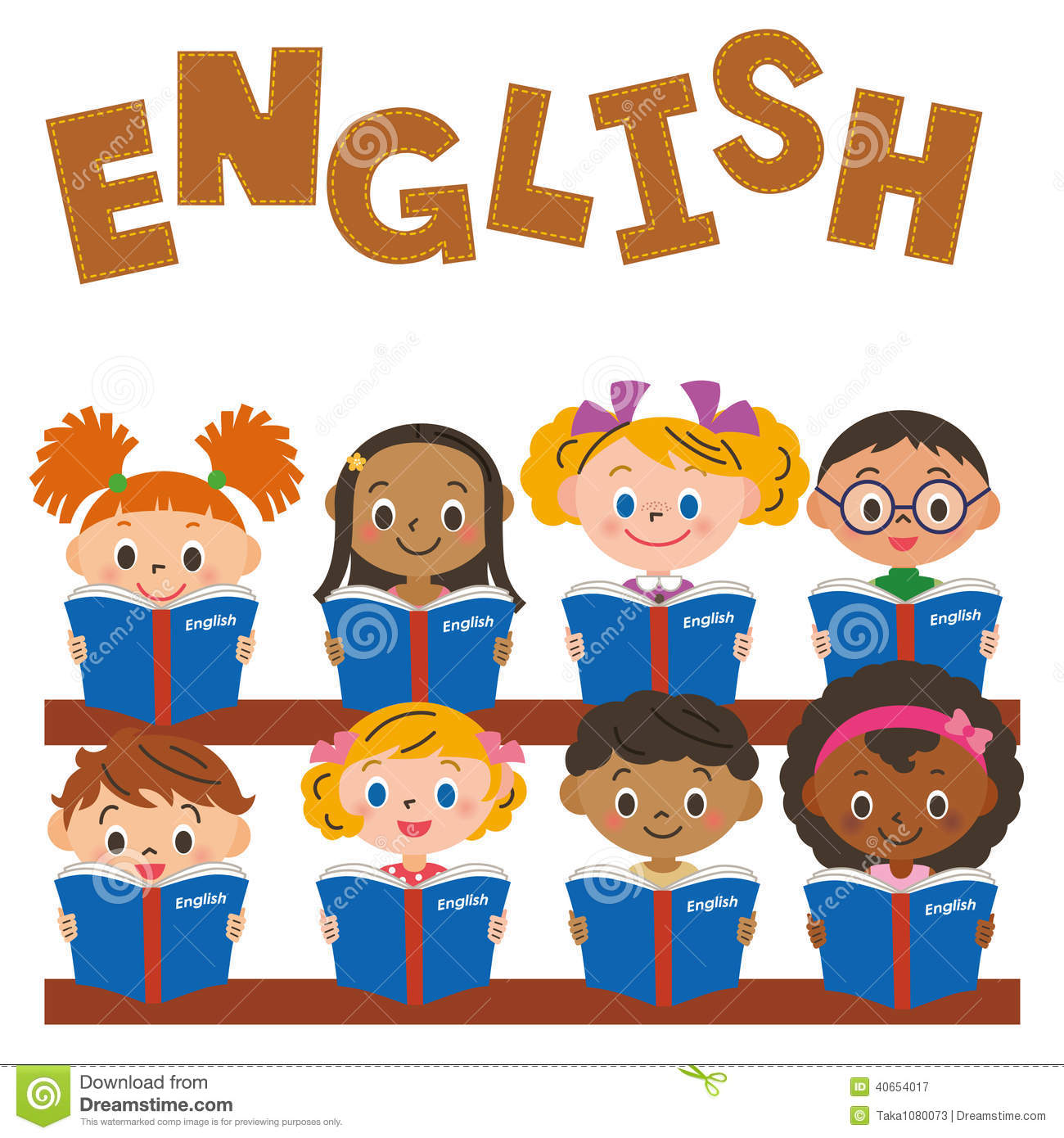 Children Making An English Study Stock Vector - Image: 40654017