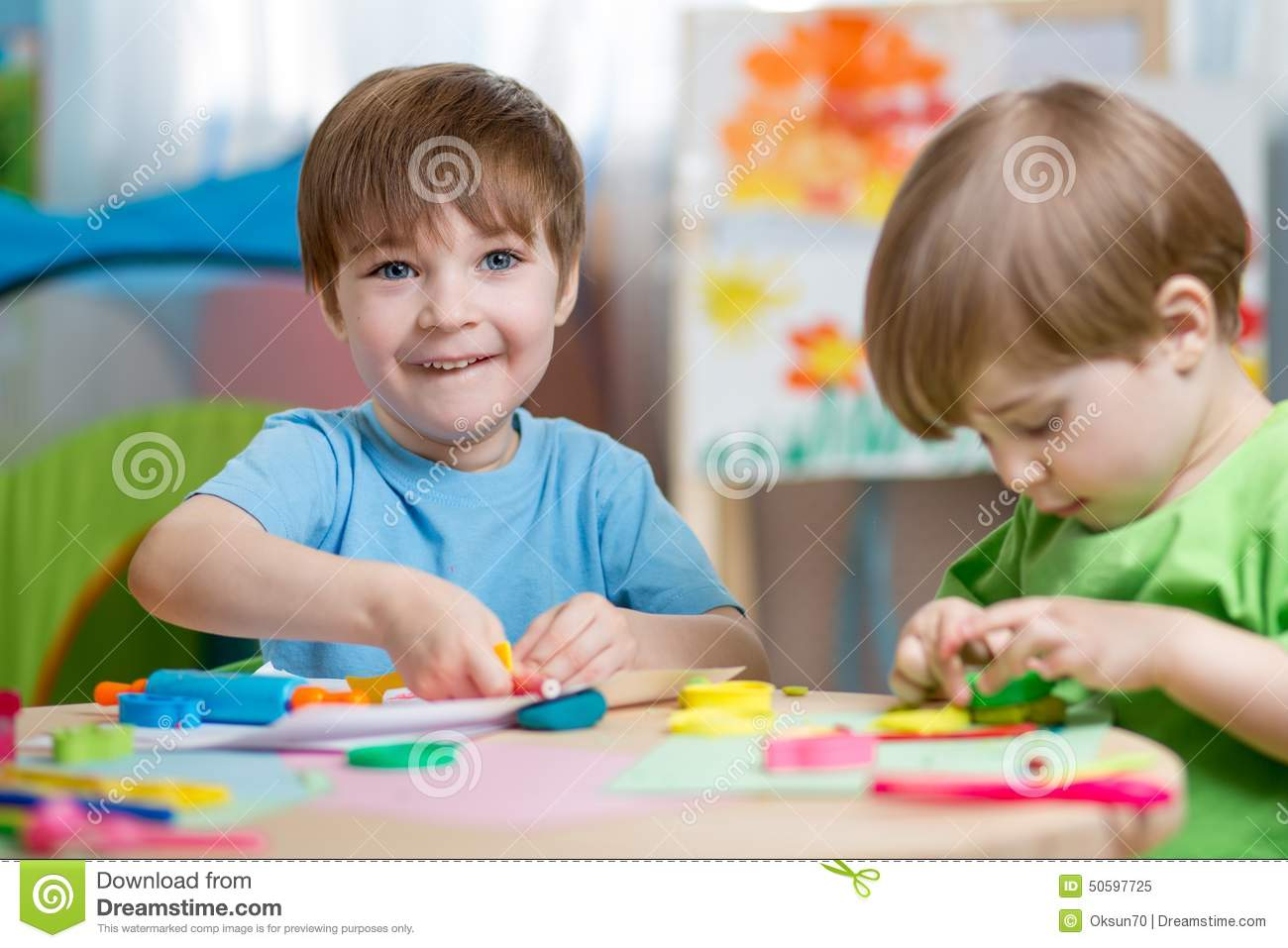 Children Making By Hands Stock Image Image Of Baby Children 50597725