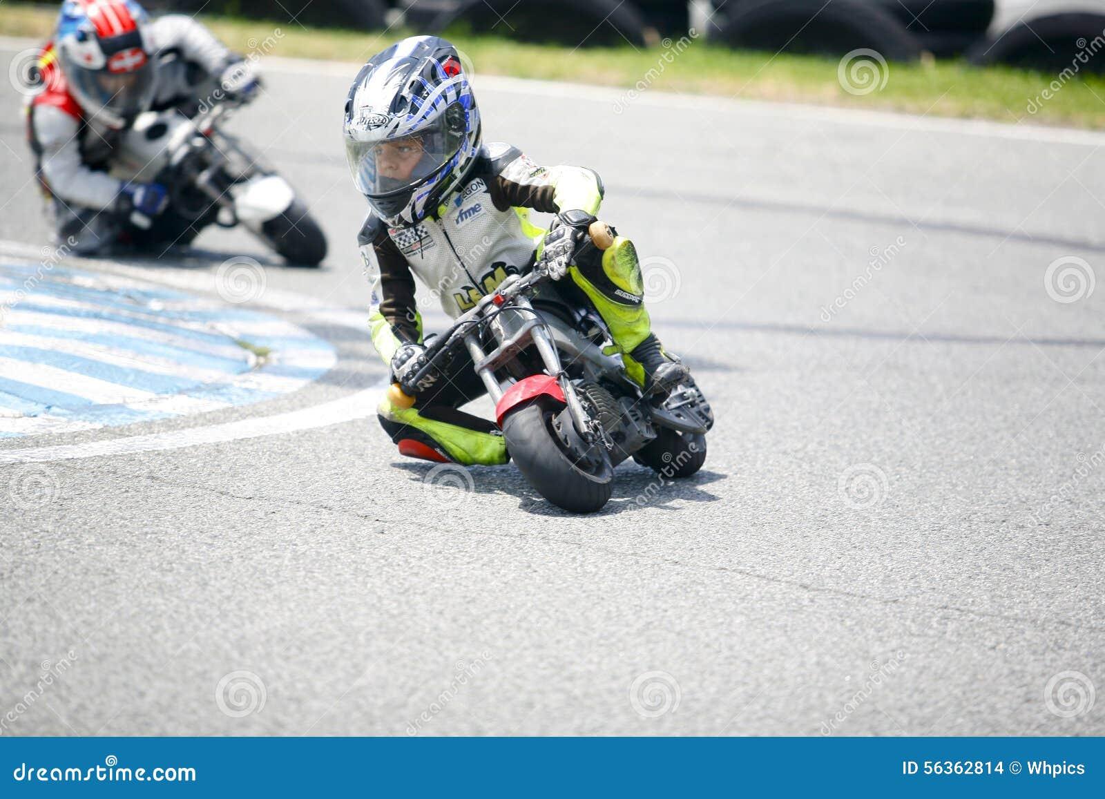 Children mini-bikers editorial stock image. Image of outside ...