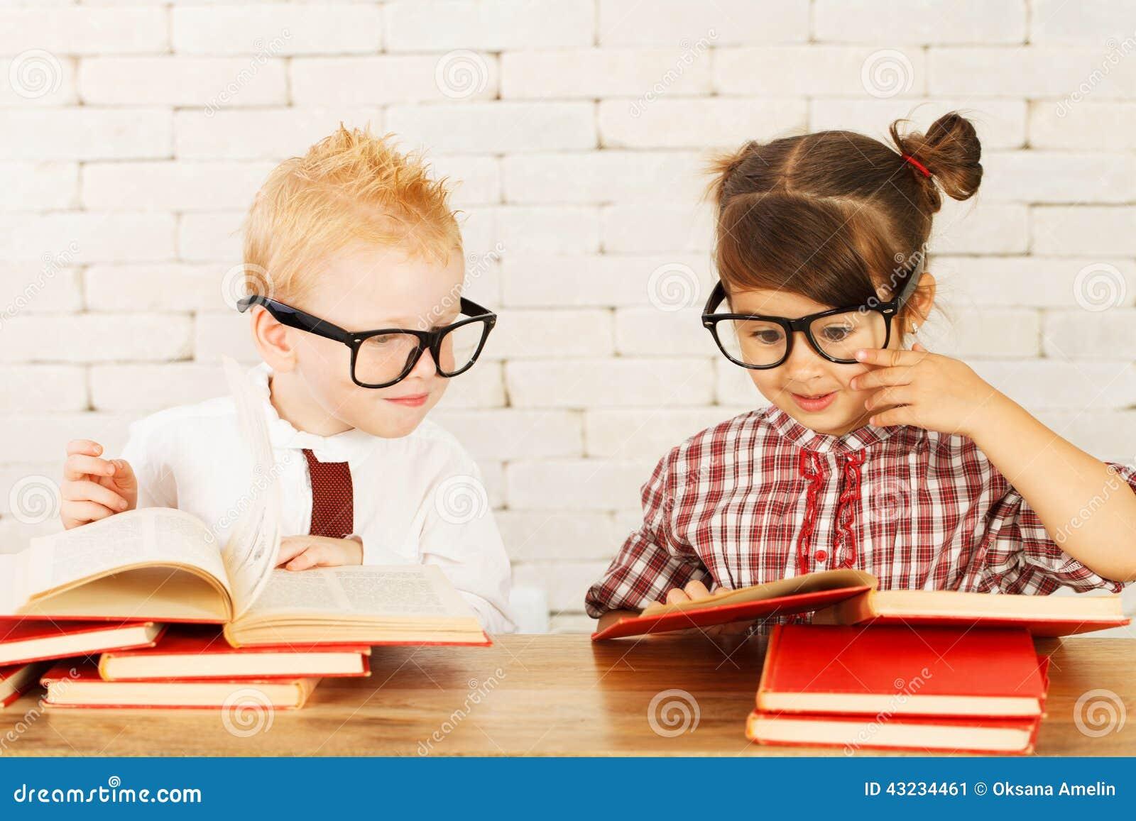 Children Nerds Stock Photo Image 43234461