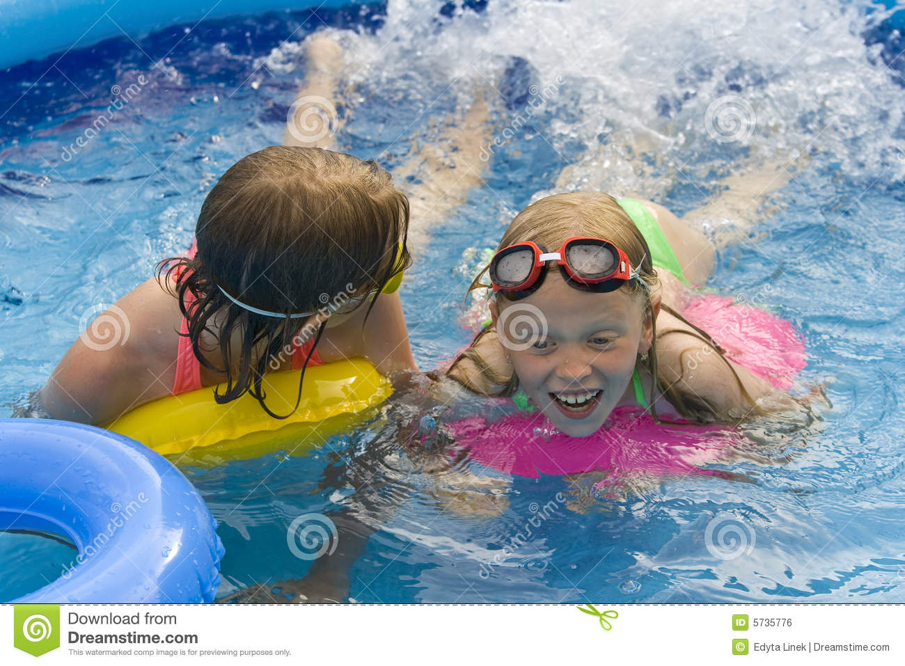 Children in paddling pool royalty free stock image image for Best children s paddling pool