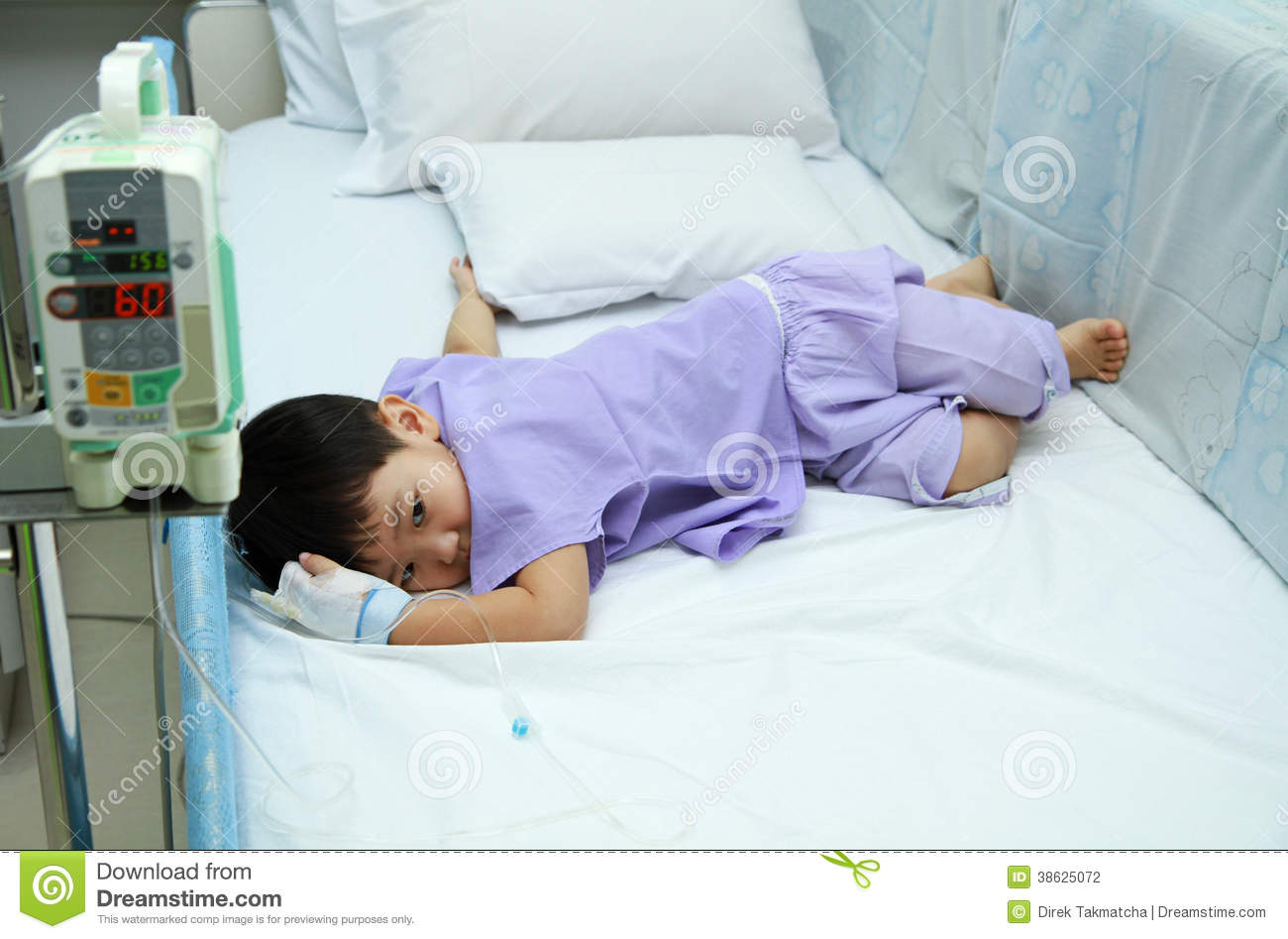 Patient In Hospital Bed : Children Patient In Hospital Bed Stock Photography - Image: 38625072