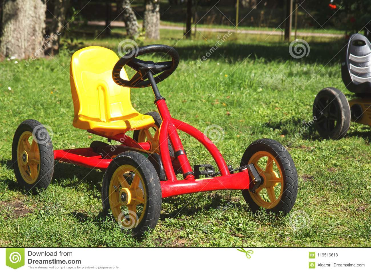 Children Pedal Car Stock Photo Image Of Hire Outdoor 119516618