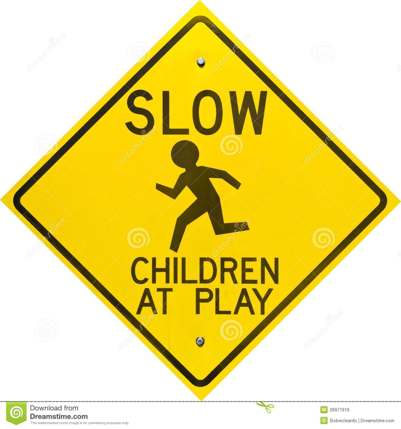 Children At Play Sign Diamond Shaped Royalty Free Stock ...