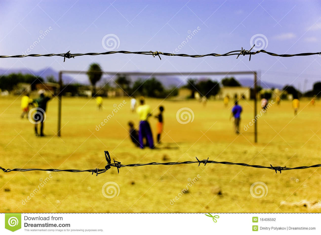 Children Play Soccer, South Africa