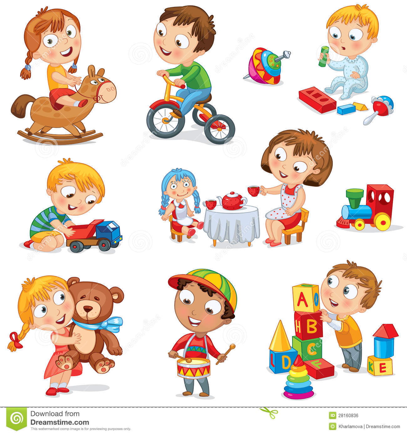 Play Toys Com : Children play with toys royalty free stock image