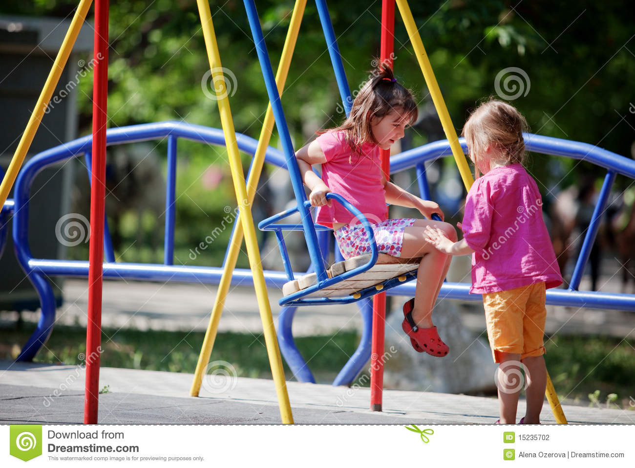 Children On Playground Stock Photography - Image: 15235702