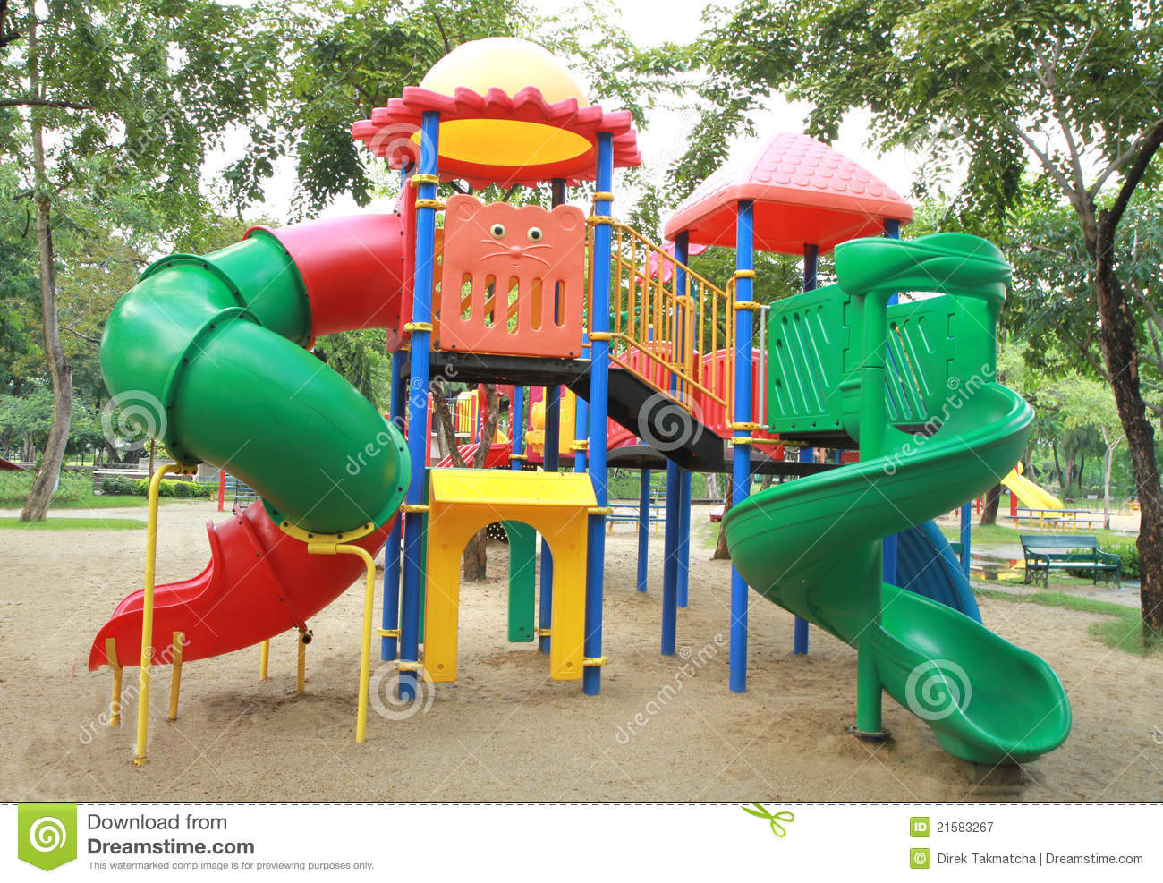 Children playground stock image. Image of swing, safety ...