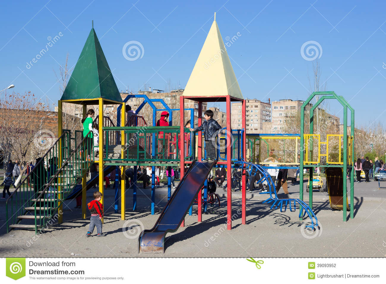 Children On Playground Editorial Photography - Image: 39093952