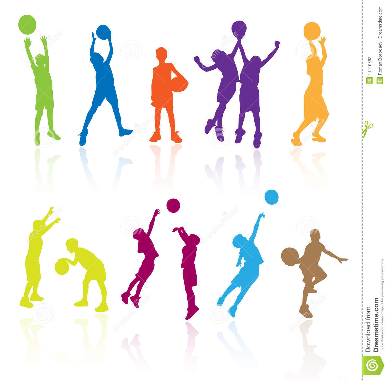 Kids playing basketball kid play sports child children silhouettes silhouette girls girls boy boys player players basket ball game