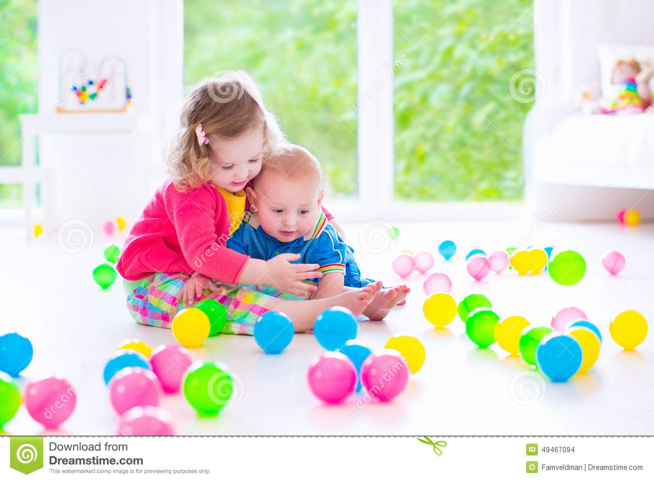 Children Playing At Day Care Stock Photo Image 49467094