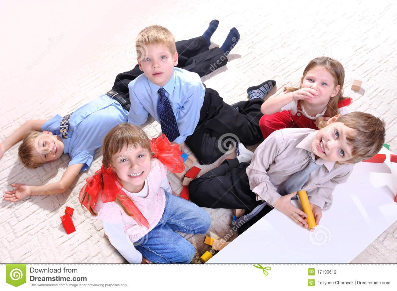Children playing on the floor