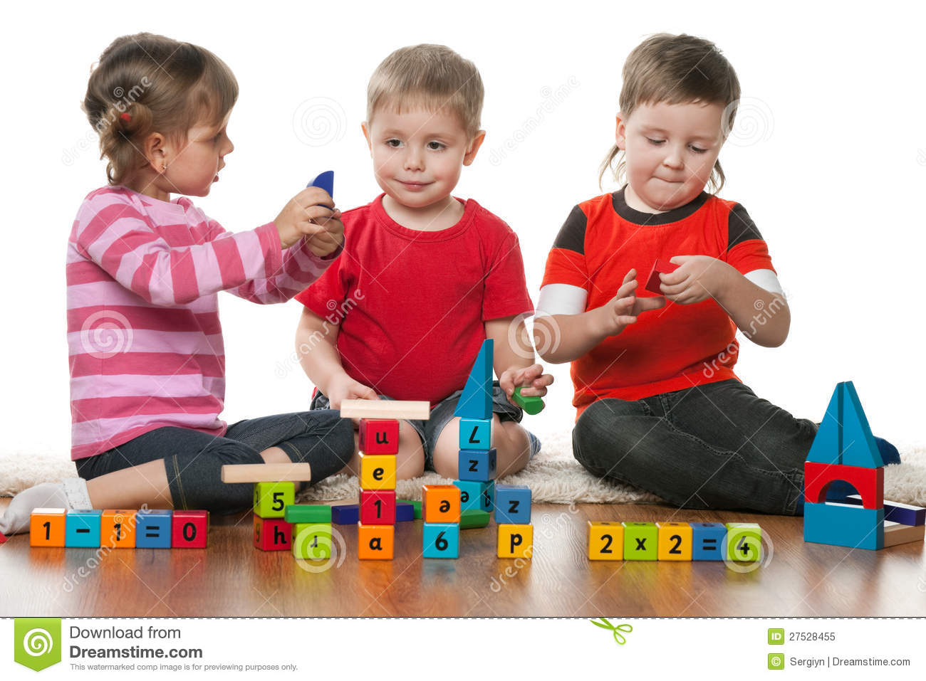 Children Playing Floor Together