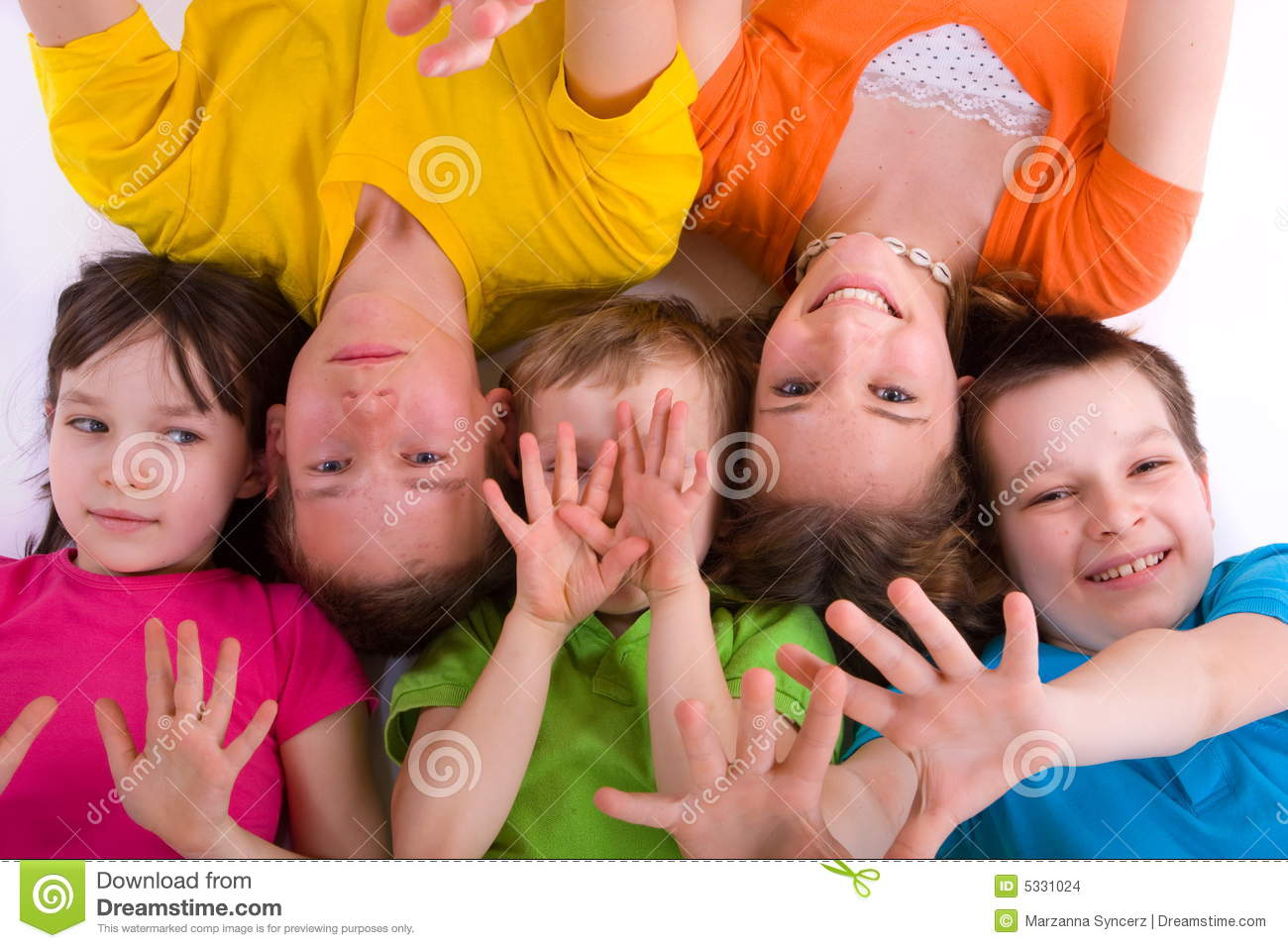 Children playing with hands