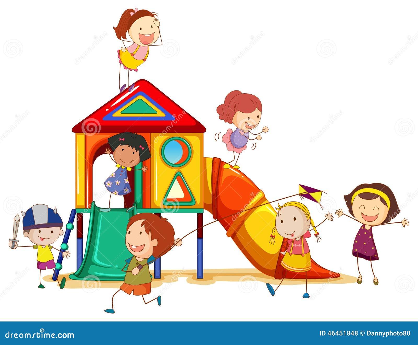 Children playing stock vector. Illustration of plastic ...