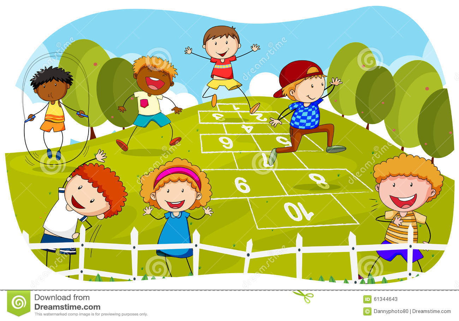 Children Playing Hopsc...