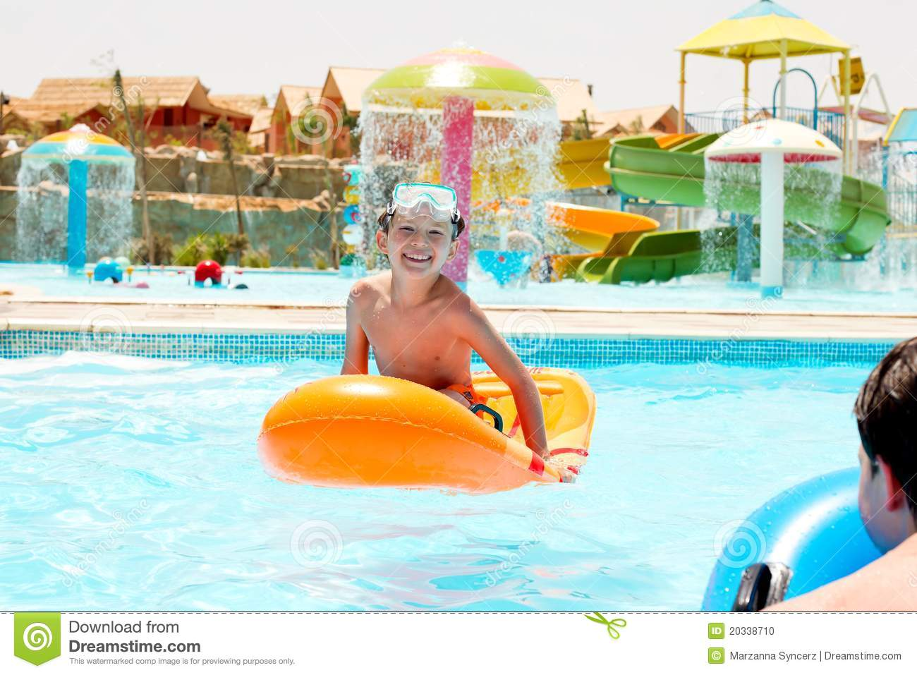 Children Playing In Pool Stock Photo Image 20338710