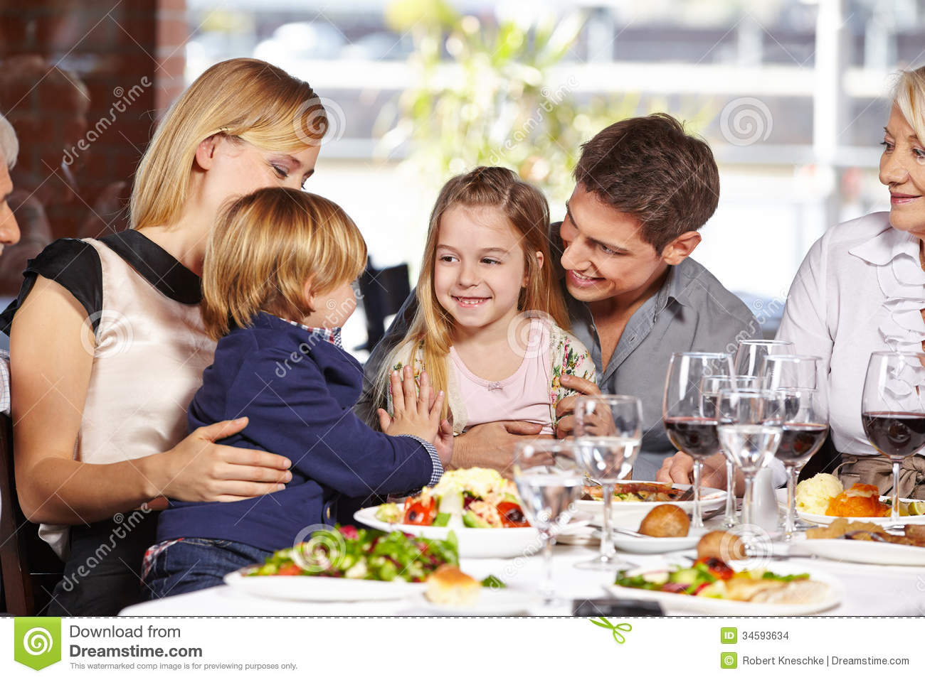 Children playing in restaurant stock images image 34593634 for Family diner