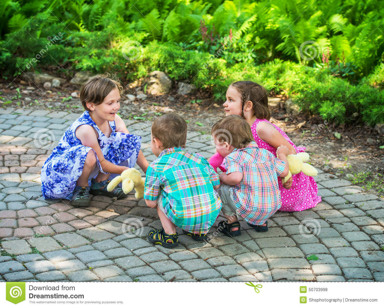 Children Playing Ring Around The Rosie Stock Photo - Image of ...
