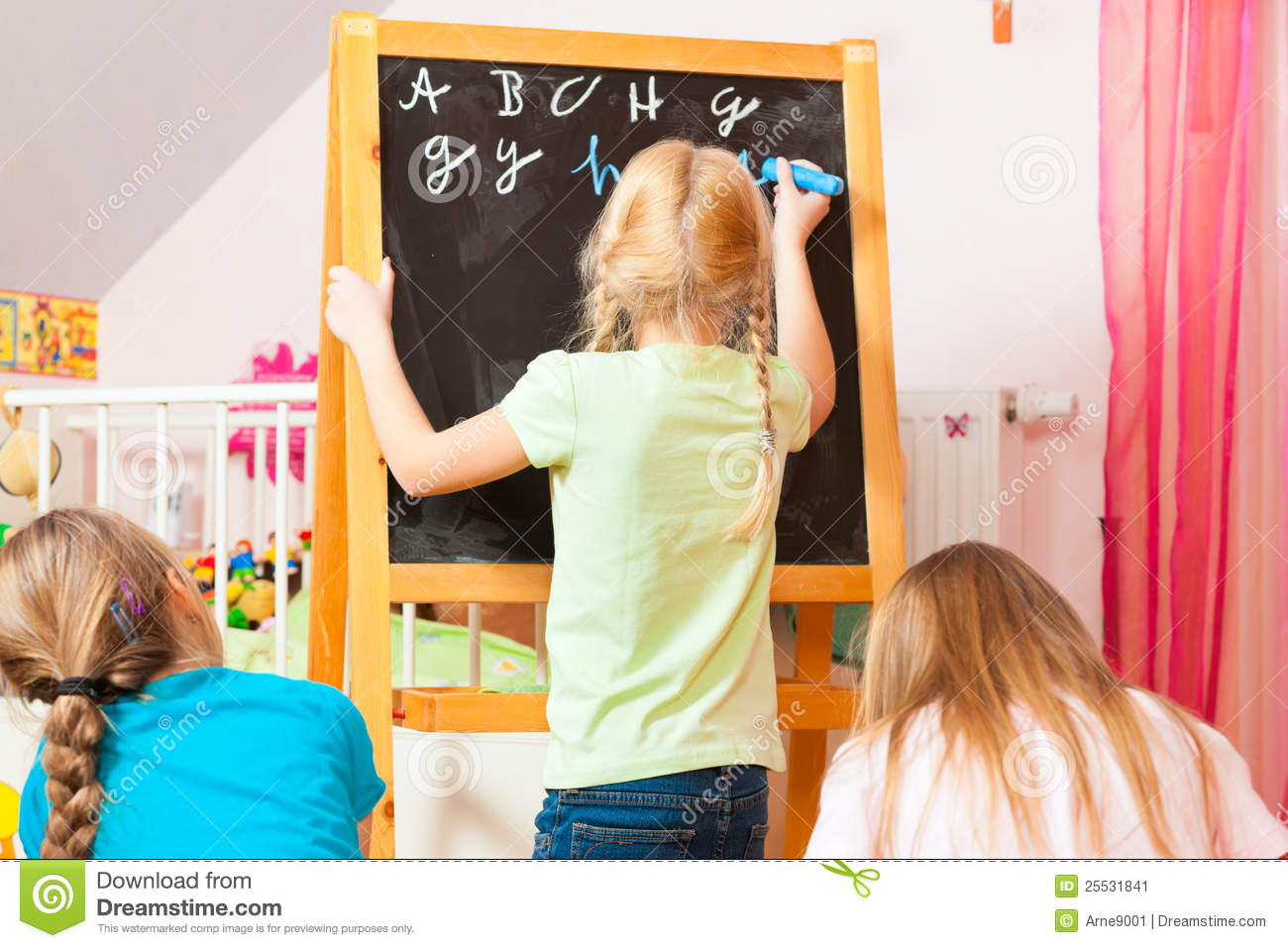 Children Playing School At Home Stock Image Image 25531841