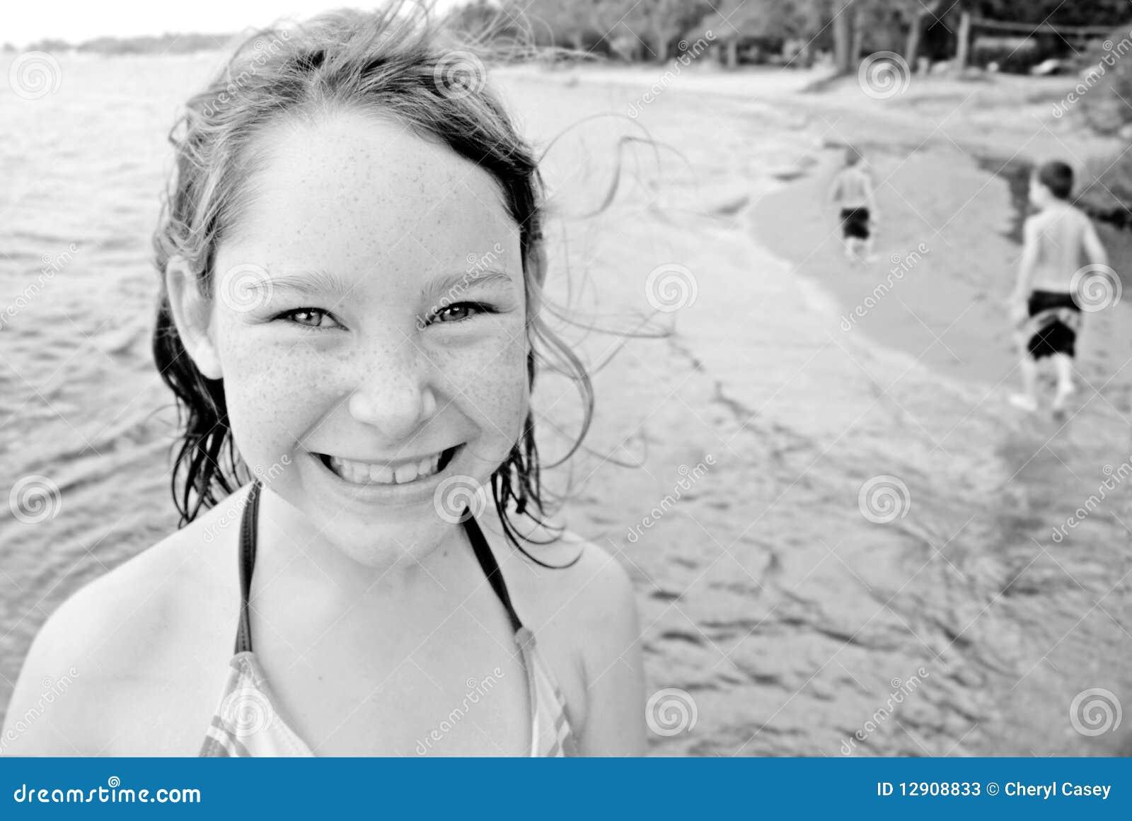 Children Playing At Seashore Stock Photos Image 12908833