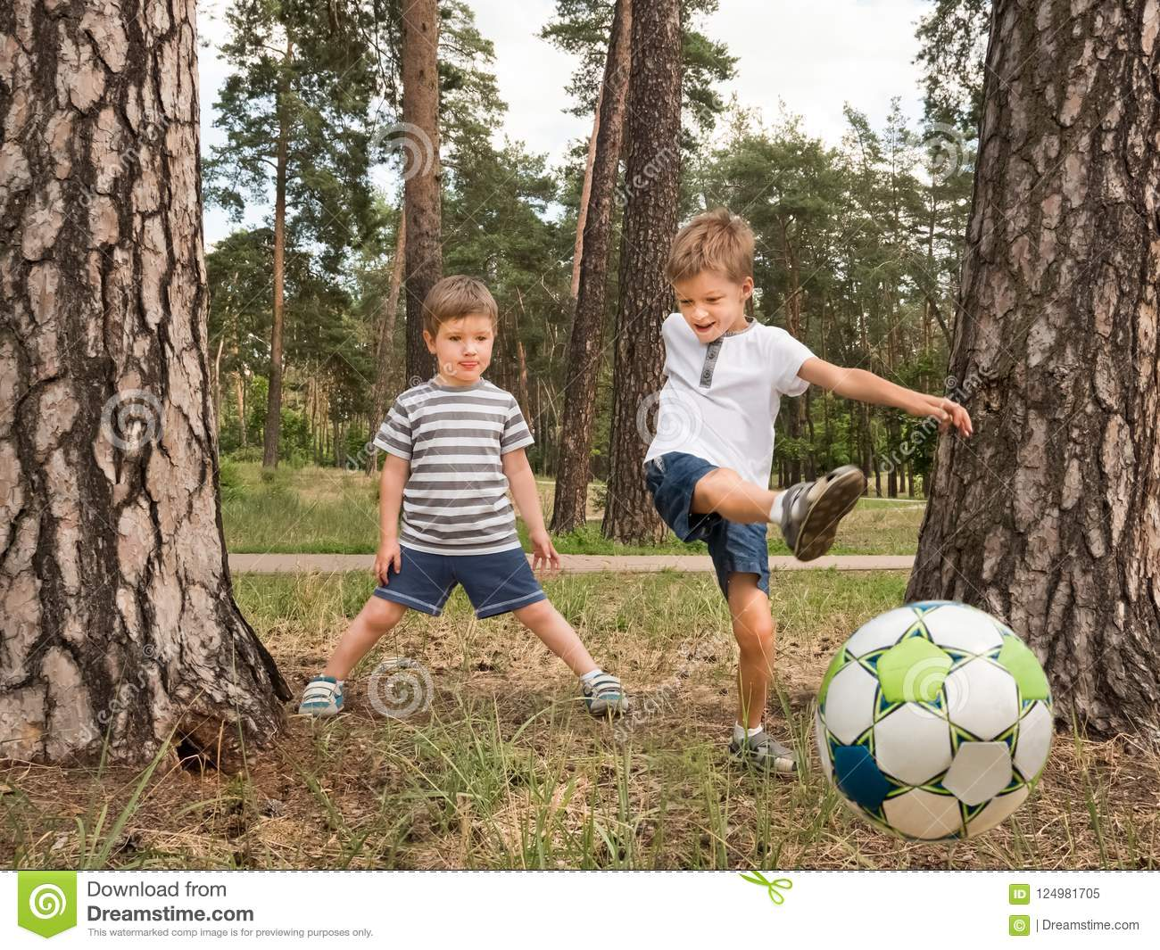 Children Playing Soccer Outdoor Leisure Activities For Children