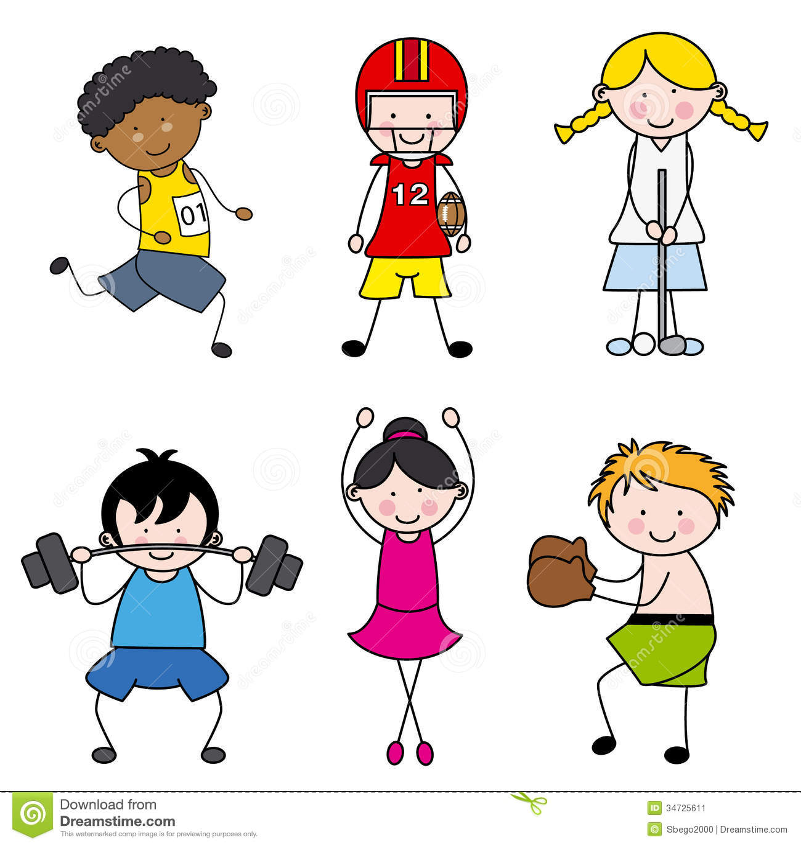 Children Playing Sports Stock Image - Image: 34725611
