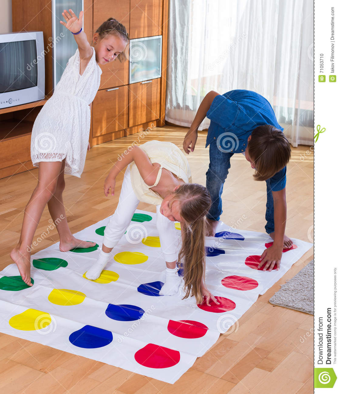 from Luka little girls playing twister