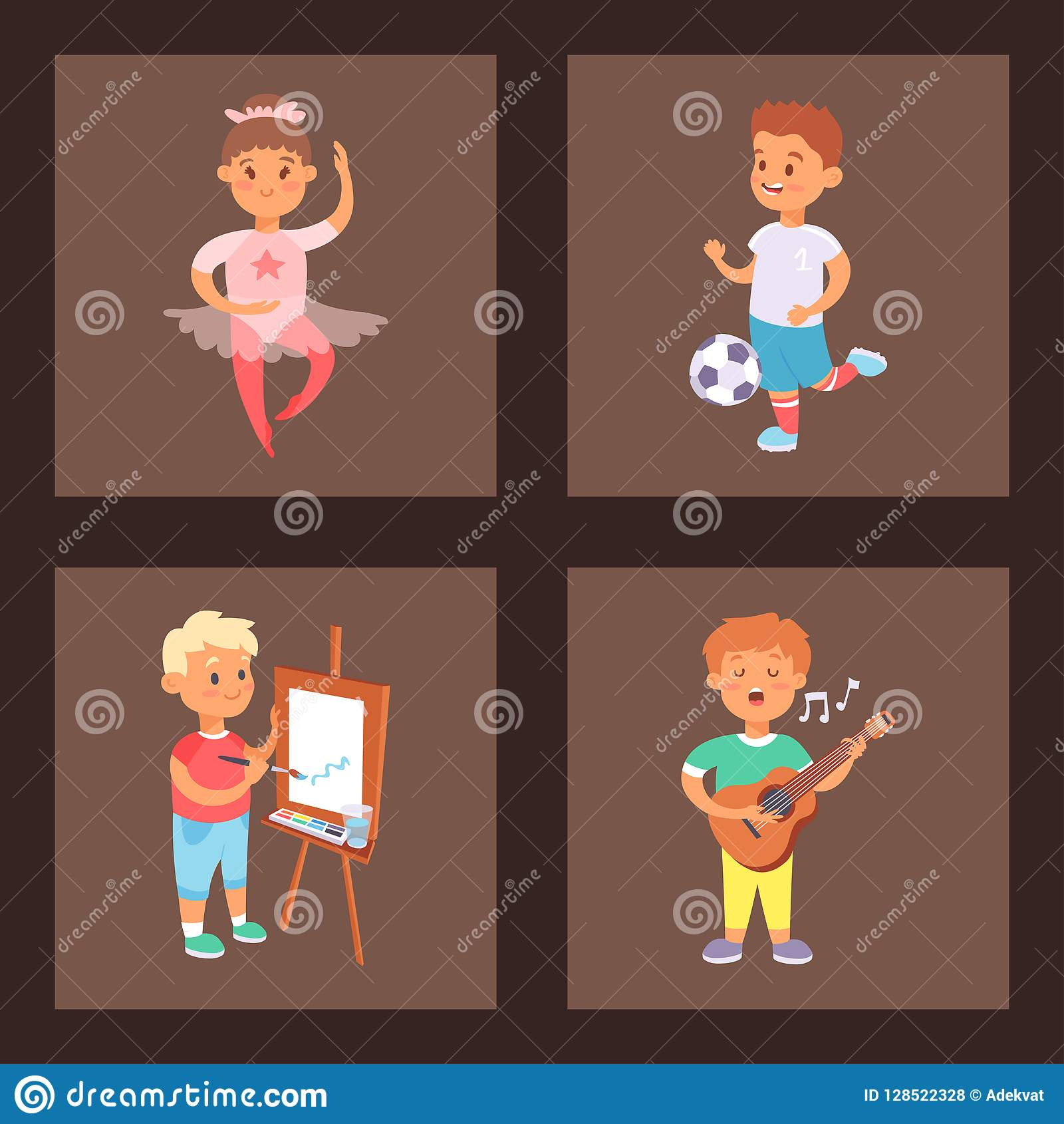 Why Are Kids Different At Home And At >> Children Playing Vector Different Types Of Home Games Little Kids