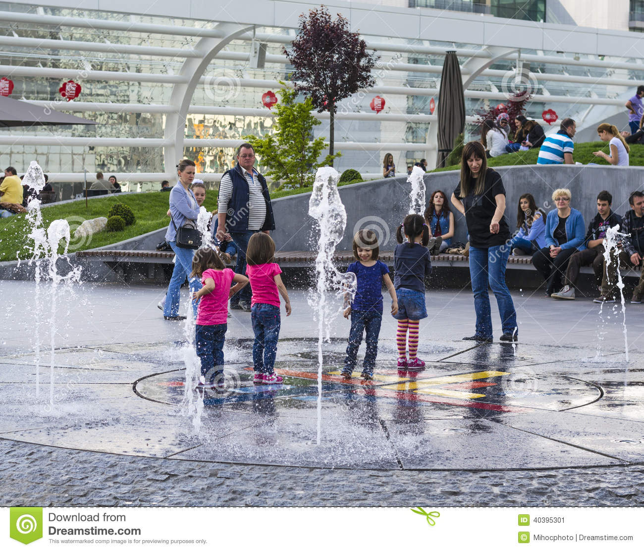 Children Playing With Water Editorial Photo Image 40395301