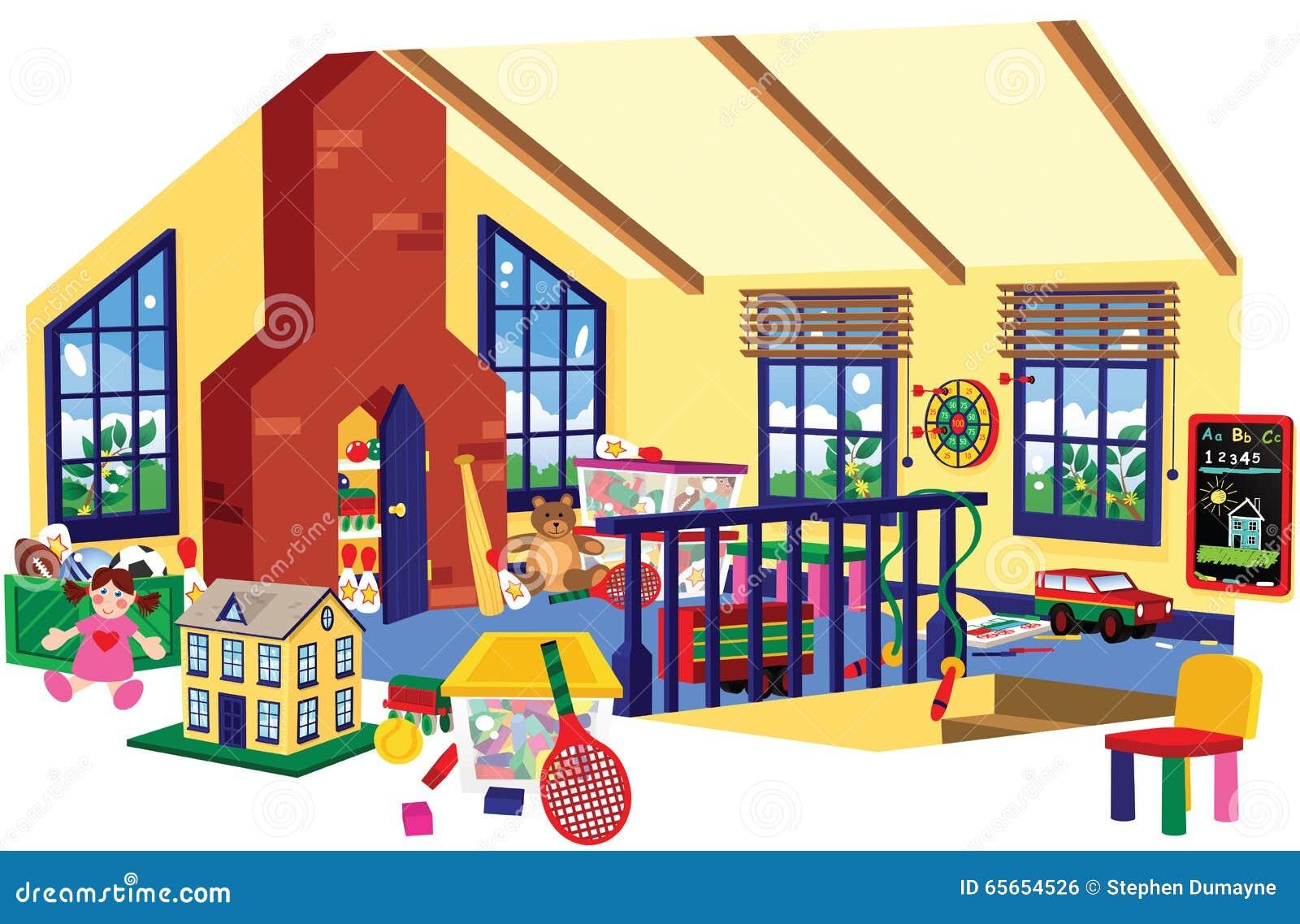 Children Playroom Children Playroom Stock Vector Image 65654526