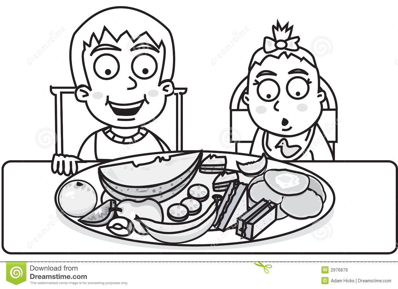 Children Ready To Eat Royalty Free Stock Images Image