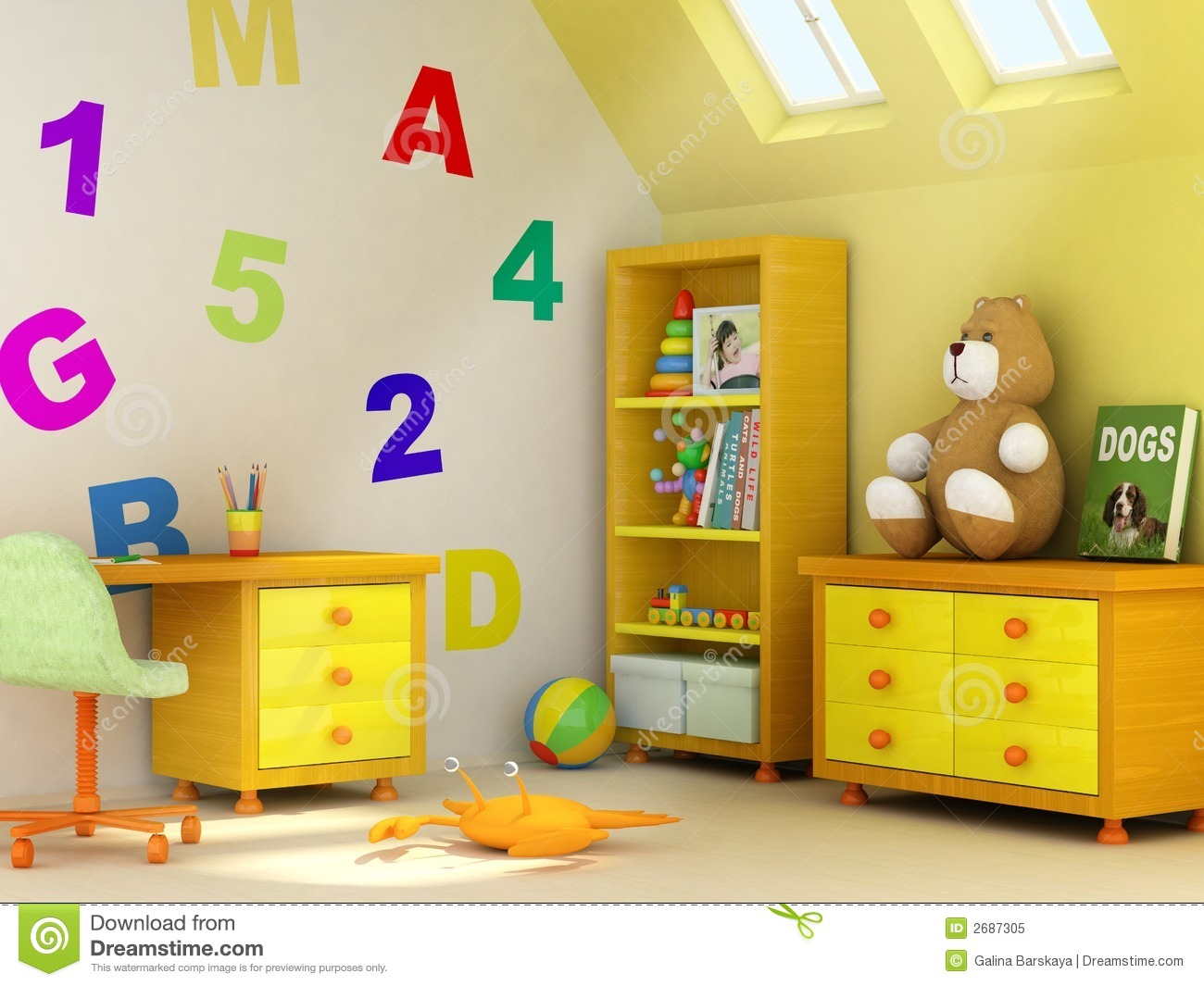 children's room royalty free stock images - image: 7156689