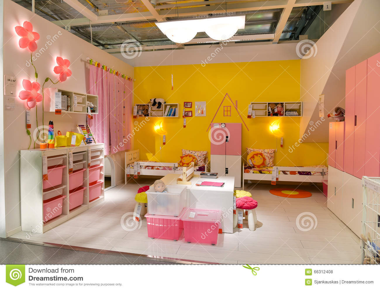 Children Room Furniture In Ikea Editorial Stock Photo Image 66312408