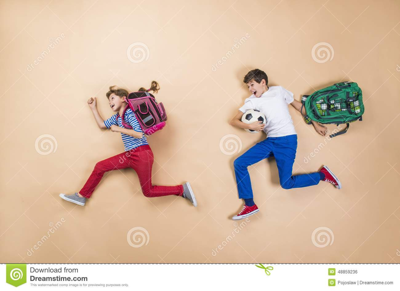 children running in school - photo #30