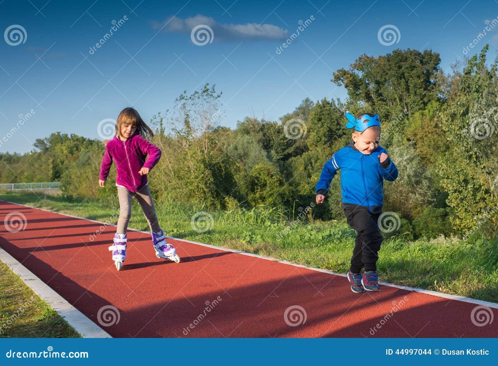 Children Running Stock Photo - Image: 44997044