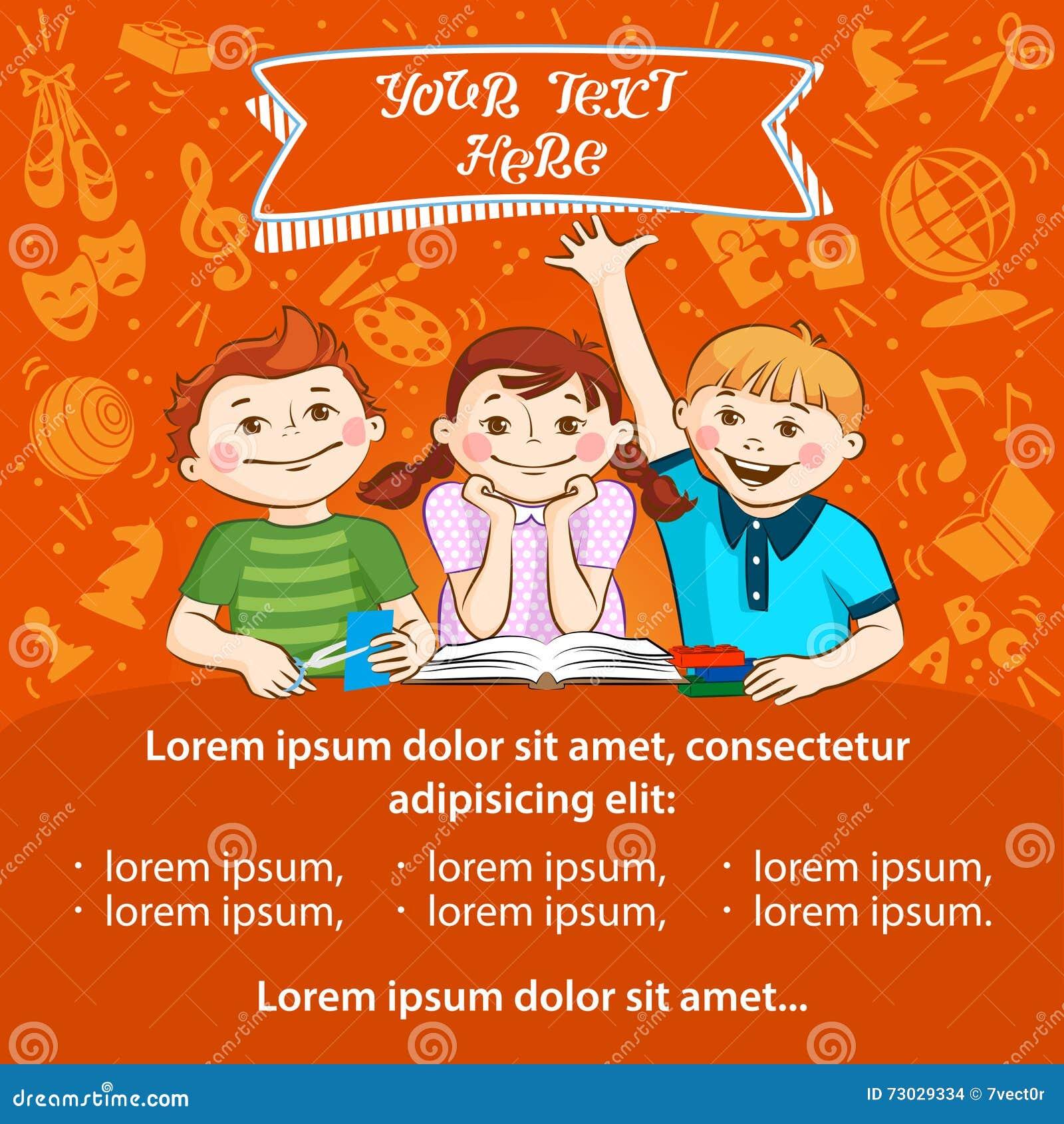 children 39 s activity template for advertising flyer