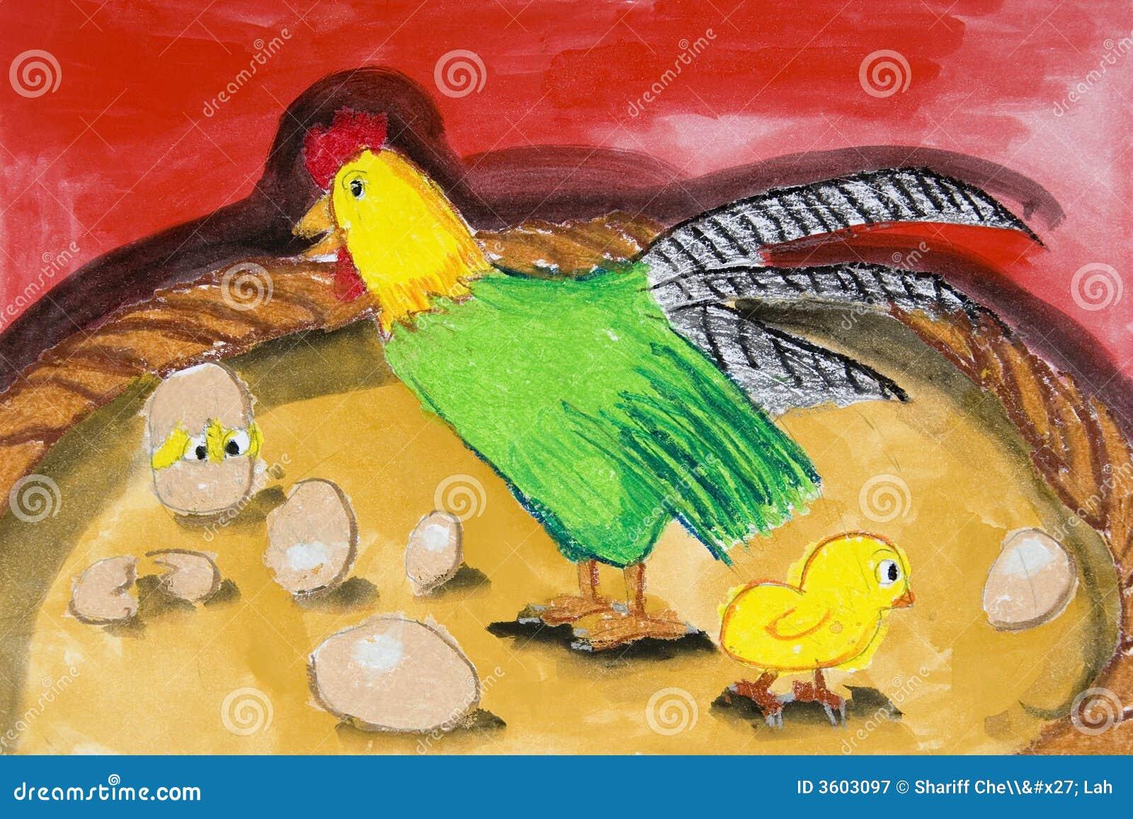 Children S Art Farm Animals Stock Illustration Illustration Of