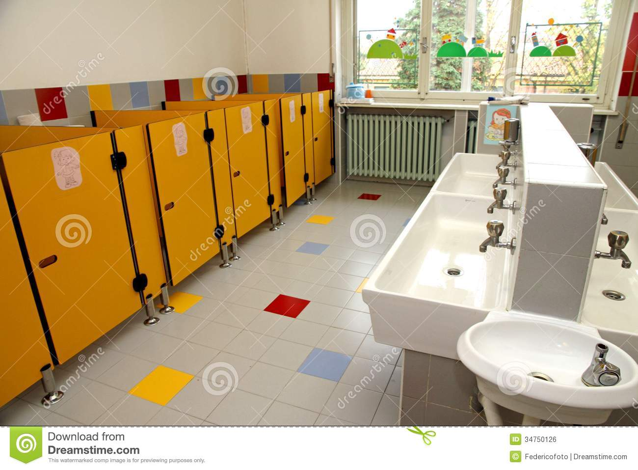 The children s bathrooms of a kindergarten