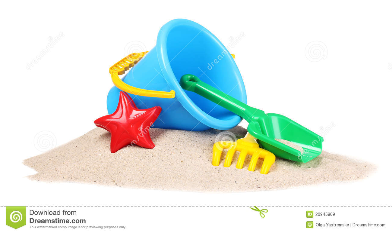 Beach Sand Toys For Kids : Children s beach toys and sand royalty free stock images