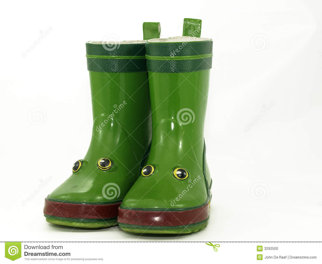 Red Rain Boots Clipart Children s boots Stock Photo