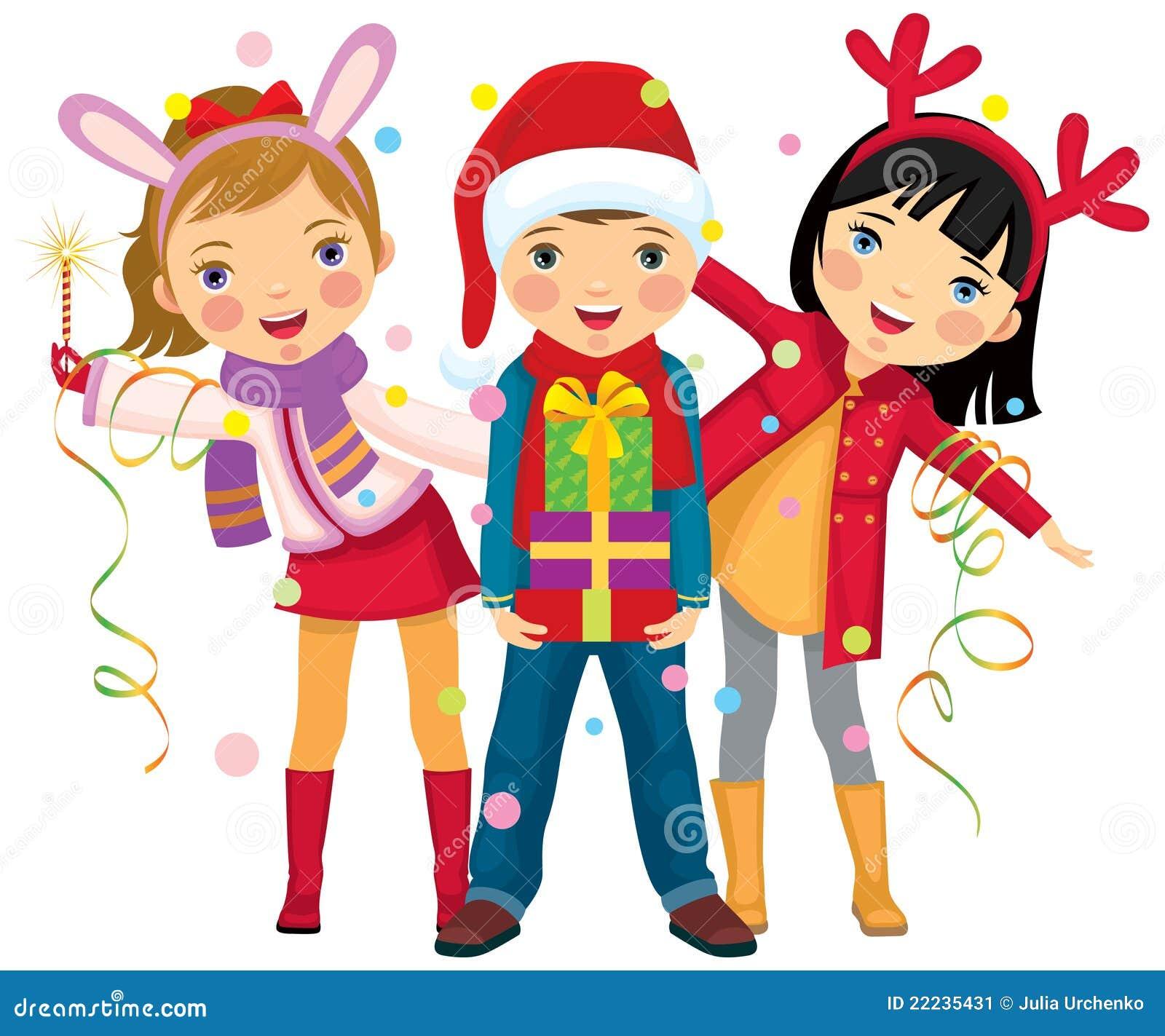 Christmas Children Party: Children's Christmas Party A Surprise Stock Vector