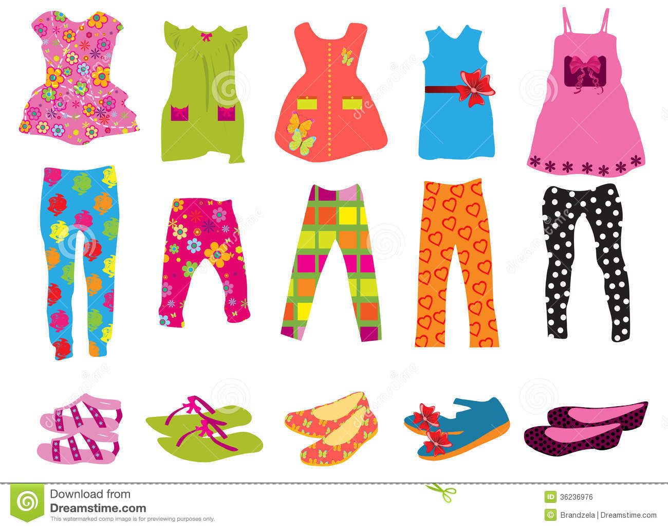 Children's Clothes For Women Stock Vector - Image: 36236976