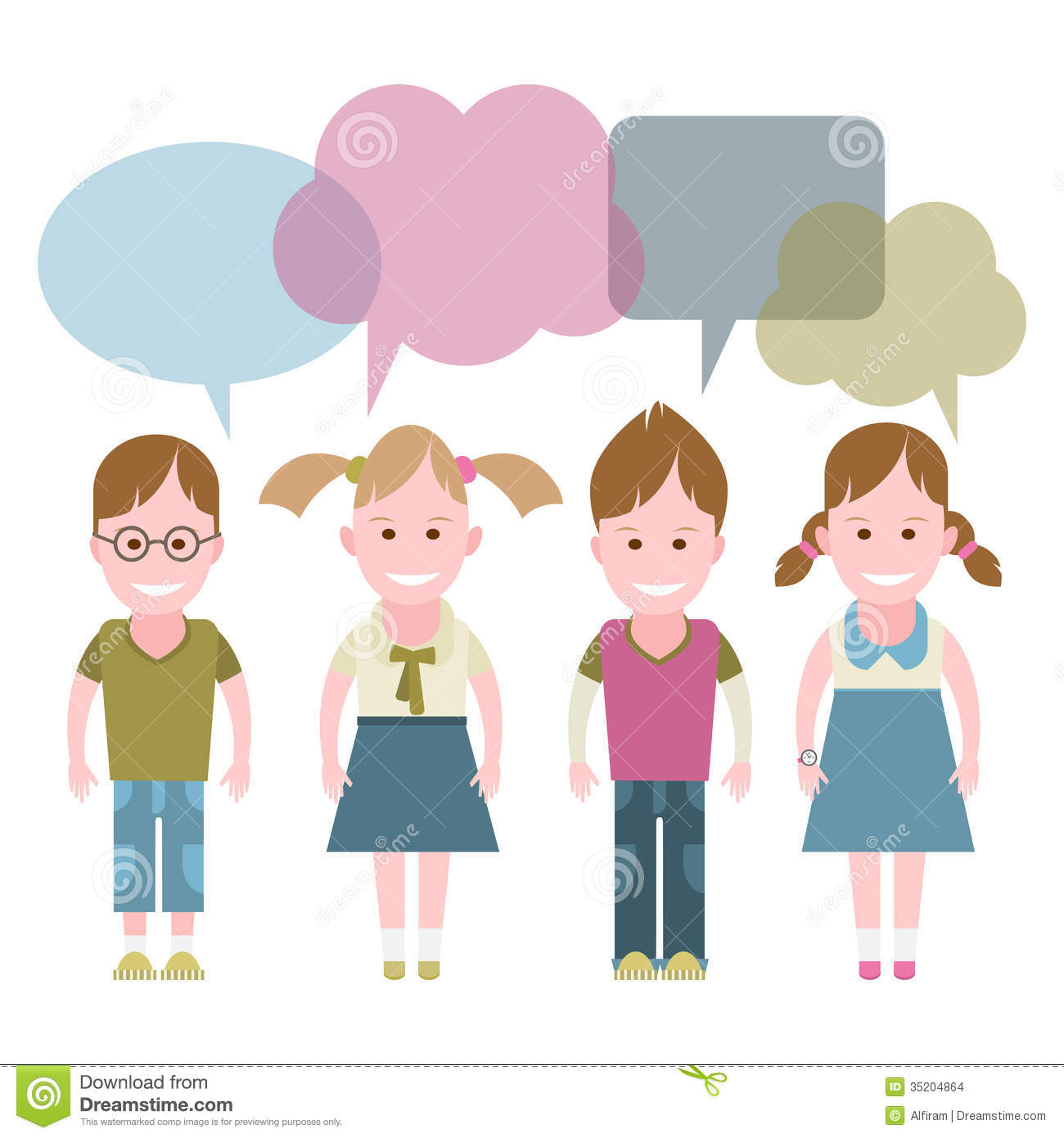 Childrens Dialogue Stock Images - Image: 35204864