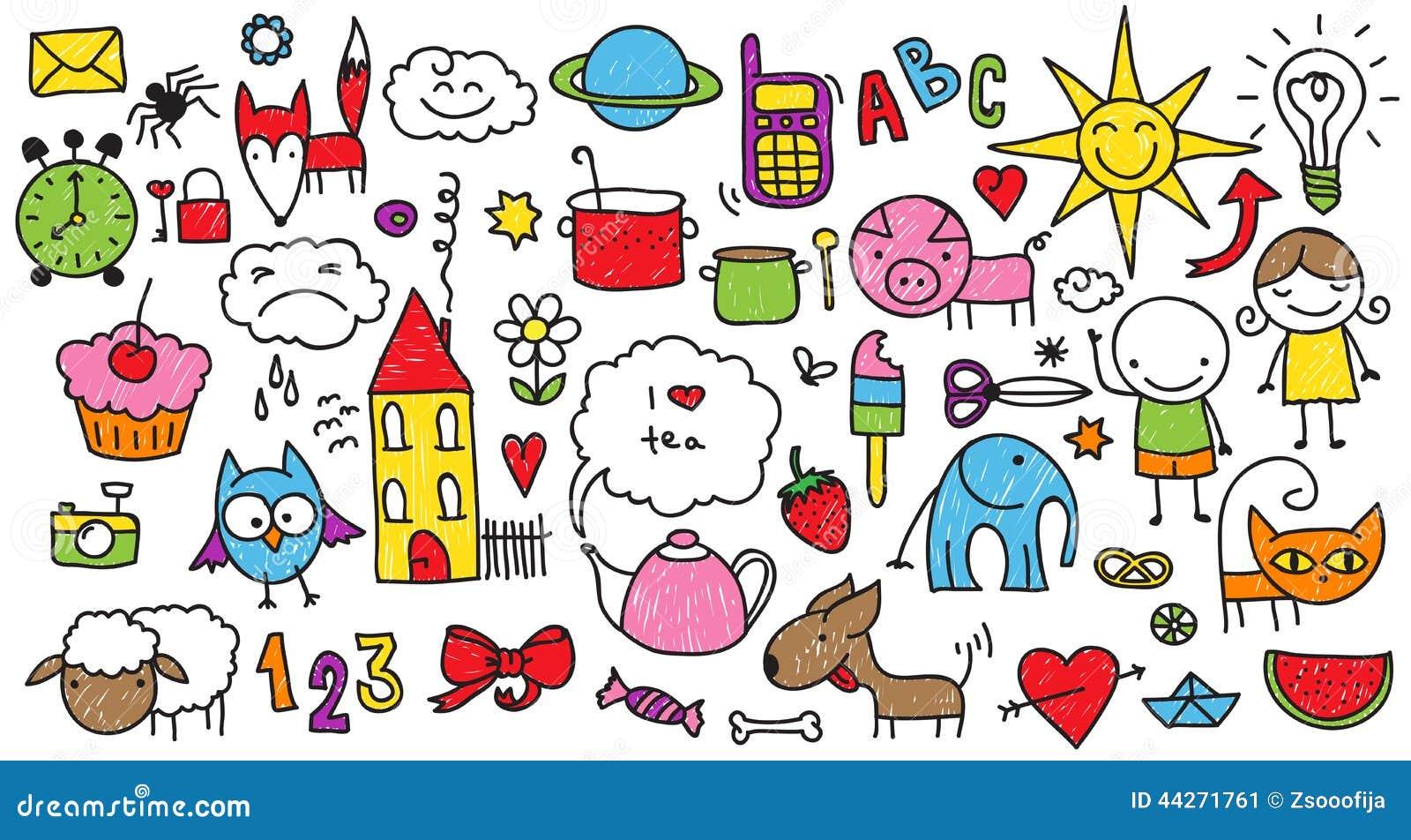 Doodle S: Children's Doodle Stock Vector