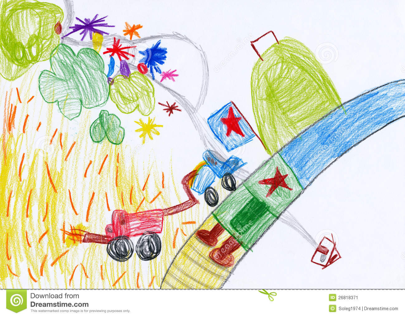 drawing harvesting - Children Drawing Images