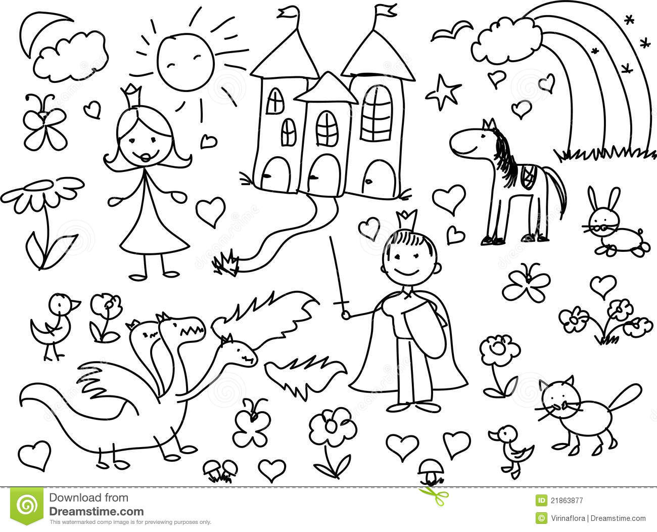 Children's Drawings,vector Royalty Free Stock Photography ...