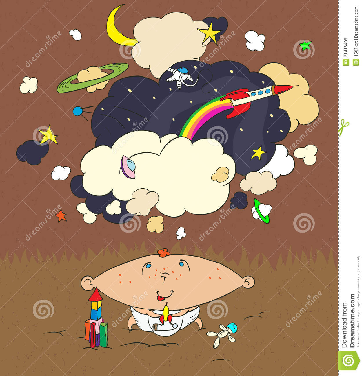 Download Children's dreams stock vector. Illustration of illustration - 21416498
