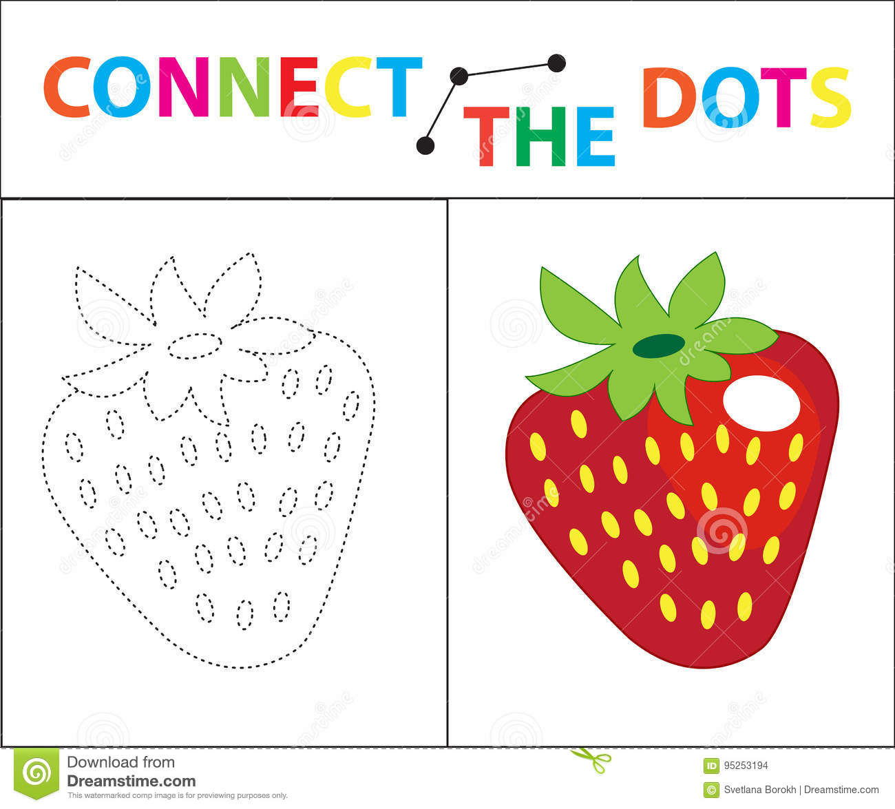 children s educational game for motor skills connect the dots