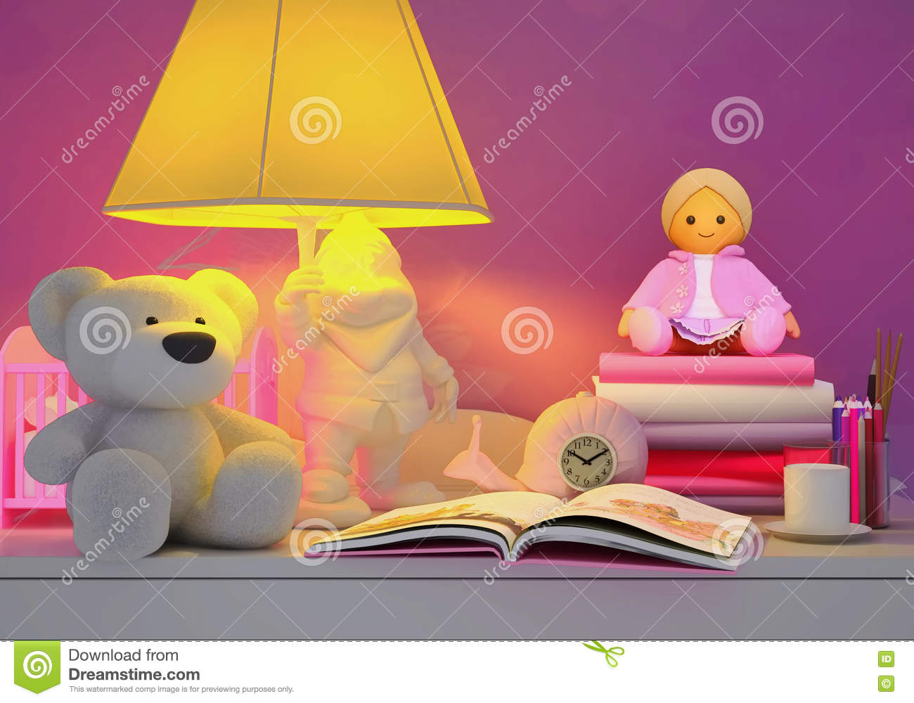 Children\'s Fairy Tale For The Night. Stock Photo - Image of alarm ...